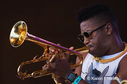 Trumpeter at Jazz Festival in Chicago